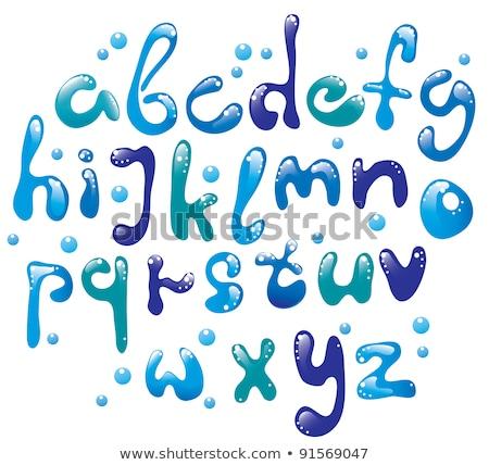 Cute glossy blue alphabet Stock photo © Elmiko