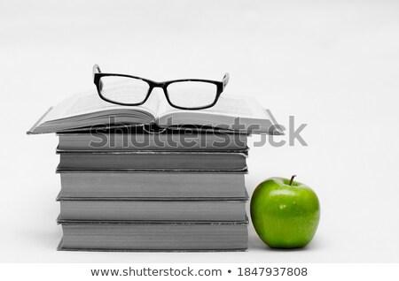 четыре книгах Top яблоки красочный один Сток-фото © justinb