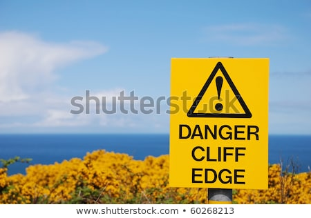 waters edge warning sign Stock photo © morrbyte