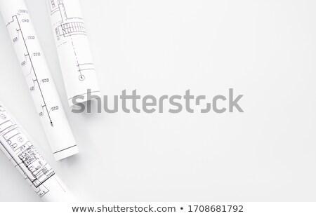 Plan Blueprint Stock fotó © almaje
