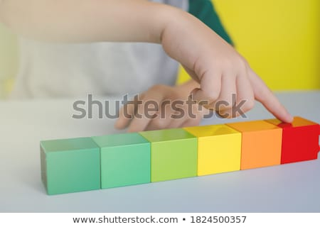 child counting with fingers Stock photo © godfer
