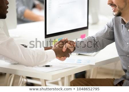 patron · asistan · çalışma · birlikte · çalışmak · zaman - stok fotoğraf © photography33
