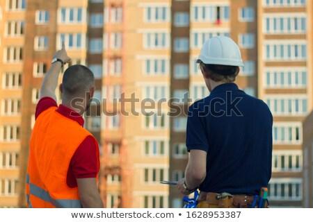 engenheiro · arquitetônico · diagrama · lupa - foto stock © photography33