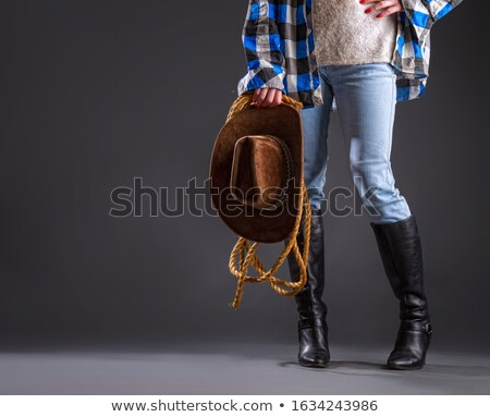 Female leg and lasso Stock photo © pzaxe