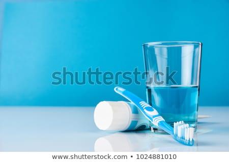 friss · fogkefe · közelkép · fej · fehér · fogkrém - stock fotó © melpomene