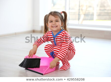 Little girl sweeping Stock photo © photography33