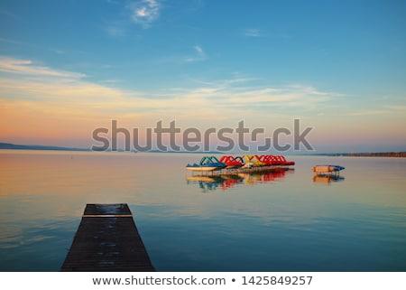abadia · lago · Balaton · Hungria · céu · paisagem - foto stock © jakatics