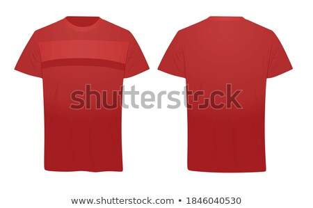 front view of red stripped shirt stock photo © ruslanomega