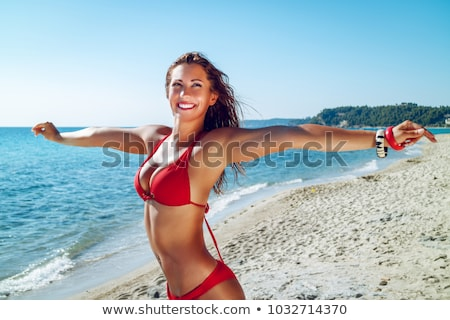 woman in red bikini stock photo © studiofi