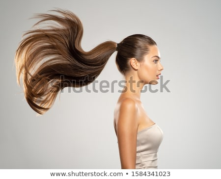 portrait of brown-haired woman, profile-view Stock photo © photography33