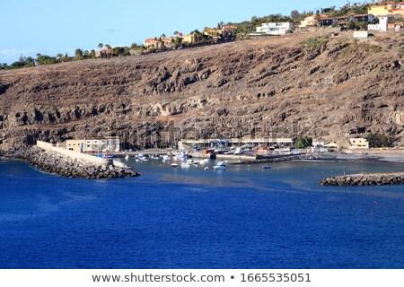ver · mar · terraço · arquitetura · férias · horizonte - foto stock © compuinfoto