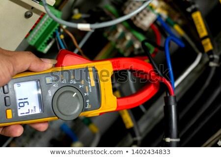 Elettricista attuale muro frame schermo Foto d'archivio © photography33