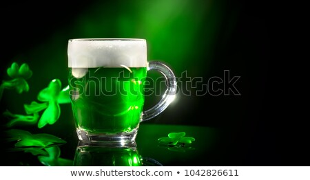 green shamrocks over light background Stock photo © marinini