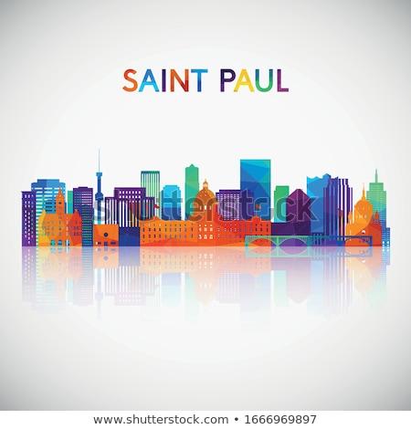 Foto stock: Downtown St Paul Mn