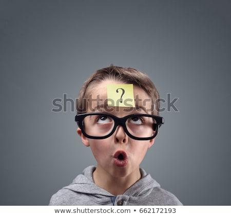 человека · бумаги · сведению · напоминание · форма · голову - Сток-фото © lightsource