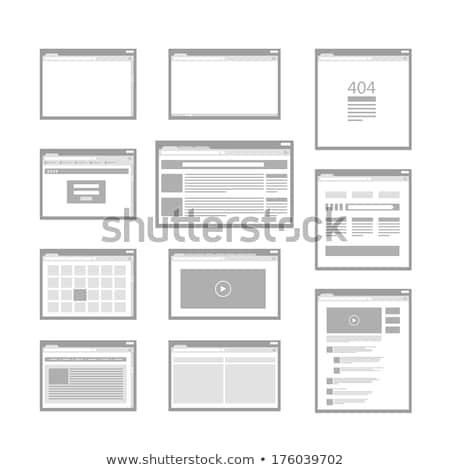 Network scheme web interface icon stock photo © make