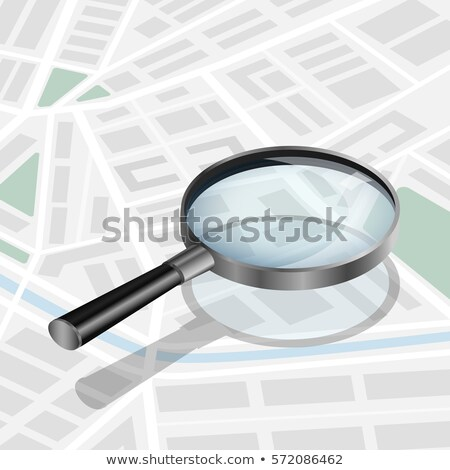 loupe magnifying glass tool with streets paper map Stock photo © LoopAll
