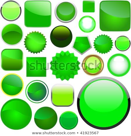 gyönyörű · zöld · gömb · ikon · üveg · fekete - stock fotó © Jugulator