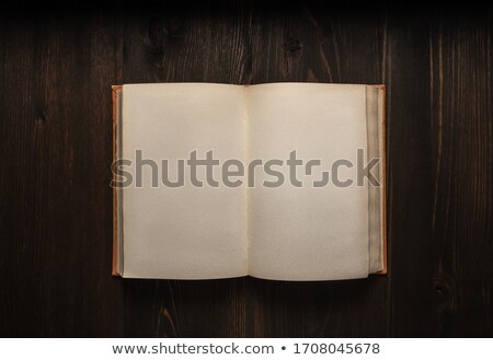 velho · escuro · papel · papiro · isolado · branco - foto stock © neirfy