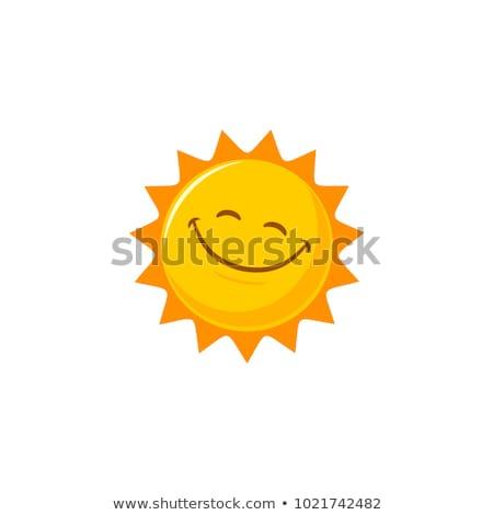 笑みを浮かべて 太陽 顔 光 オレンジ 日の出 ストックフォト © djdarkflower