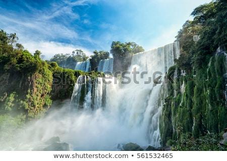 Csodálatos vízesések dél-amerika keret Argentína Brazília Stock fotó © elxeneize