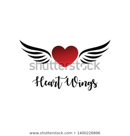 Winged heart Stock photo © carbouval
