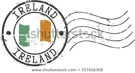 Post sello Irlanda impreso mapa arte Foto stock © Taigi