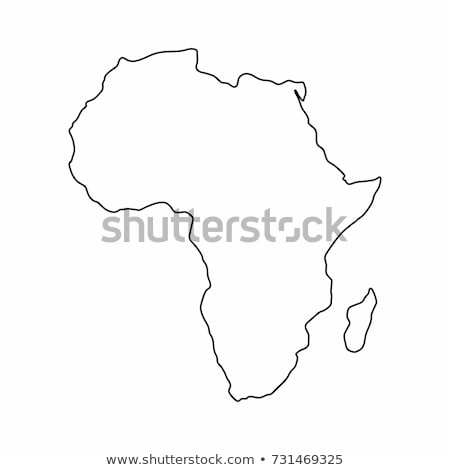 Outline Africa map Stock photo © Volina