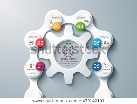 Infographic design template with gear chain. Stock photo © DavidArts