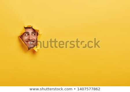 Torn Ripped Background Shows Blank Copyspace Rip Paper Stock photo © stuartmiles