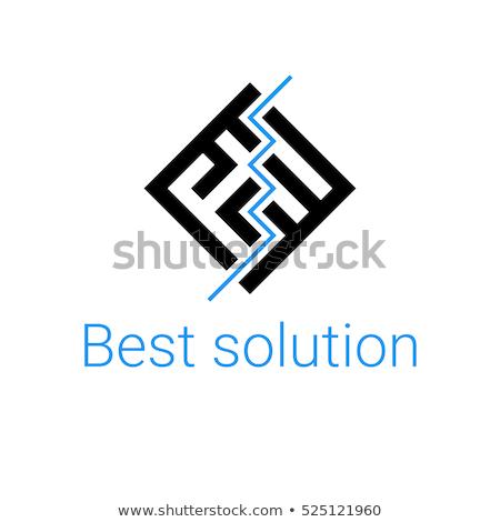 labirintus · ikonok · absztrakt · mértani · formák · grafikai · tervezés - stock fotó © cidepix