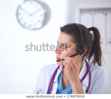 опытный Lady врач изолированный белый женщины Сток-фото © stockyimages