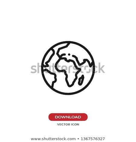 Blue World Globe icon Stock photo © burakowski