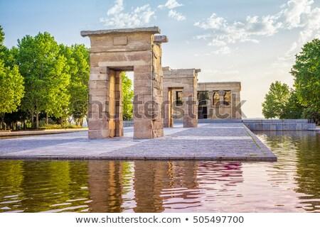 egipcjanin · świątyni · Madryt · Hiszpania · rok · starych - zdjęcia stock © asturianu