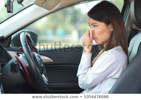 woman covering nose because the man stinks Stock photo © ichiosea