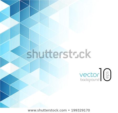 Abstract blu 3D futuristico Foto d'archivio © NiroDesign