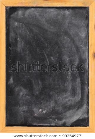 blank blackboard with eraser smudges stock photo © pixelsaway