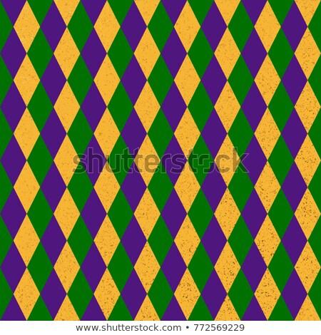 Seamless mardi grass abstract pattern Stock photo © gladiolus