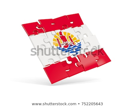 French Flag in puzzle isolated on white background Stock photo © Istanbul2009