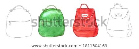 эскиз Cute школы рюкзак Vintage стиль Сток-фото © kali