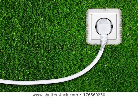 Yeşil 3D oluşturulan resim üç elektrik Stok fotoğraf © flipfine