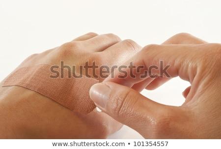 Mão isolado sucesso direção indicação caucasiano Foto stock © gemenacom