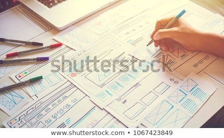 веб-дизайна · программа · дизайна · архитектура · Компьютерный · монитор · экране - Сток-фото © robuart