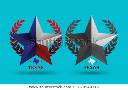 Texas Small Flag on a Map Background. Stock photo © tashatuvango
