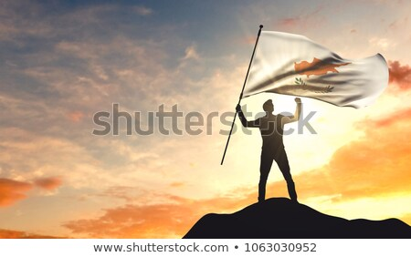 3d ember tart Ciprus zászló eps vektor Stock fotó © Istanbul2009