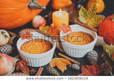 Sütőtök puding étel üveg desszert friss Stock fotó © joannawnuk