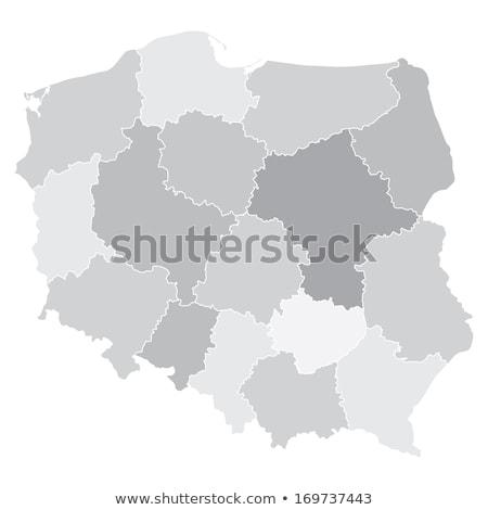 Silueta mapa Polonia signo blanco Foto stock © mayboro