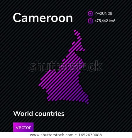 карта республика Камерун точка шаблон вектора Сток-фото © Istanbul2009