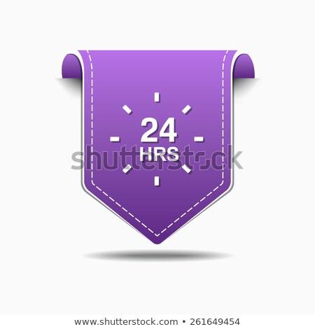 24 Hours Service Purple Vector Icon Design Stock photo © rizwanali3d