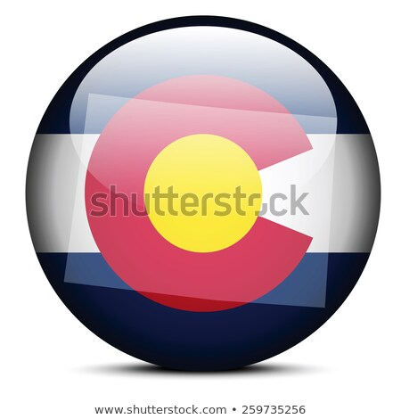 Map on flag button of USA Colorado State Stock photo © Istanbul2009